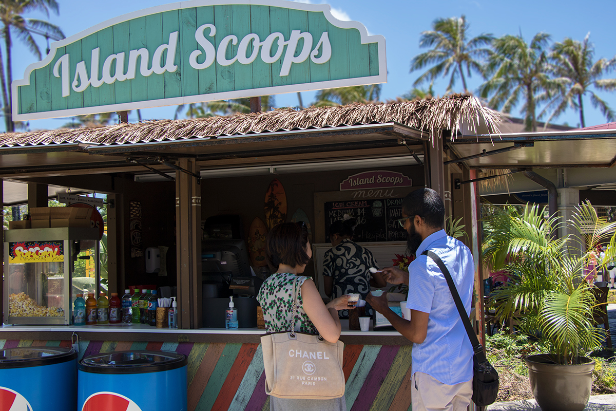 Island Scoops in the Hukilau Marketplace