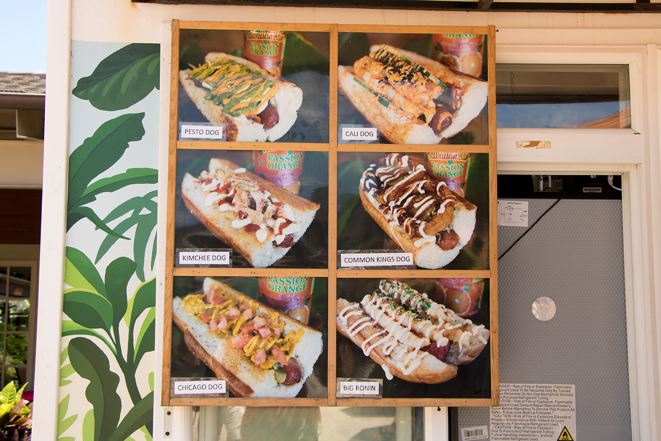 Hale Pop's hot dog menu