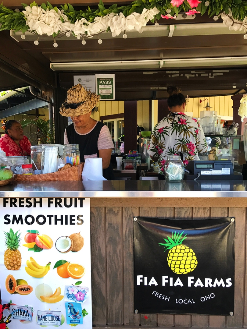 The front of Fia Fia Farms, which sells juice, smoothies, and otai